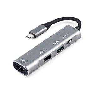 Image 4 - 4 in 1 USB C HUB to HDMI USB C 3.1 HUB Thunderbolt 3 Adapter for MacBook Samsung Galaxy S9 Huawei P20 Mate 20 Pro Type C USB HUB