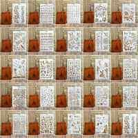 Tipo de plantillas de diseño para DIY Scrapbooking plantilla plástica hecha a mano artesanías arte diario decoración pintura dibujo Spray pegatina