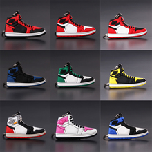 цена на Mini Jordan 1 Keychain Shoe Men Women Key Ring Classic Color AJ Retro Generation Basketball Sneakers Key Chain