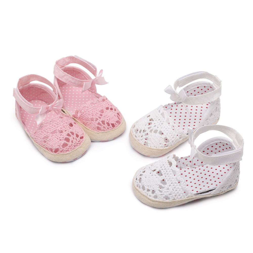 CHICHIMAO Brand New Cute Newborn Infant Baby Girls Princess Shoes Toddler Summer Sandals Knitted Non-Slip Shoes Size 0-18 M