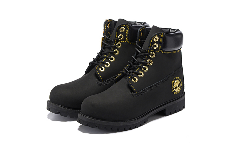 TIMBERLAND Men All Black Gold Metal Ankle Martin Motorcycle Boots,Man high-top Leather Spring Wearable Casual Walk Shoes 40-45 1