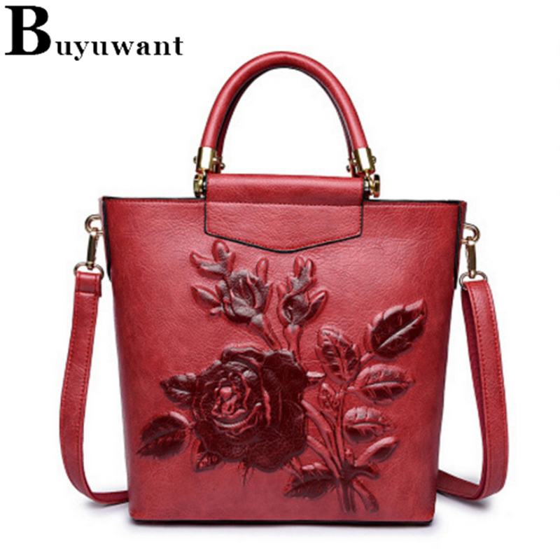b58f405fb88b Buyuwant PU Top-Handle bag Chinese pressure flower girl handbag fashionable  Messenger Bags Casual Crossbody Tote BW02-TH-yhzgdb