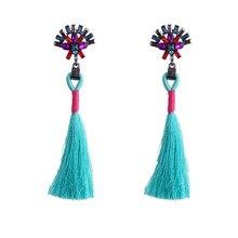 2017 Sales charm Crystal Earrings fashion Pendants tassel earrings gothic long earrings bohemian Jewelry accessories E888-E894