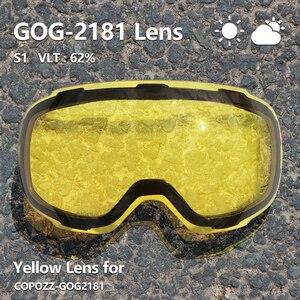 Image 5 - COPOZZแม่เหล็กสกีสกี2Sเปลี่ยนเลนส์และชุดUV400ป้องกันAnti Fogสโนว์บอร์ดแว่นตาสกีสำหรับผู้ชายผู้หญิง