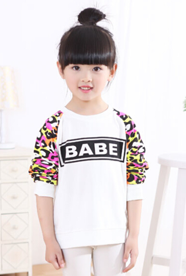 2016 autumn children's clothing girls t-shirt long sleeve baby girl t-shits for big girls kids outerwear t shirts tops