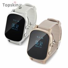 Niños calientes gsm sim perseguidor de los gps para los niños kid smart watch teléfono t58 niños relojes de pulsera inteligente para ios android