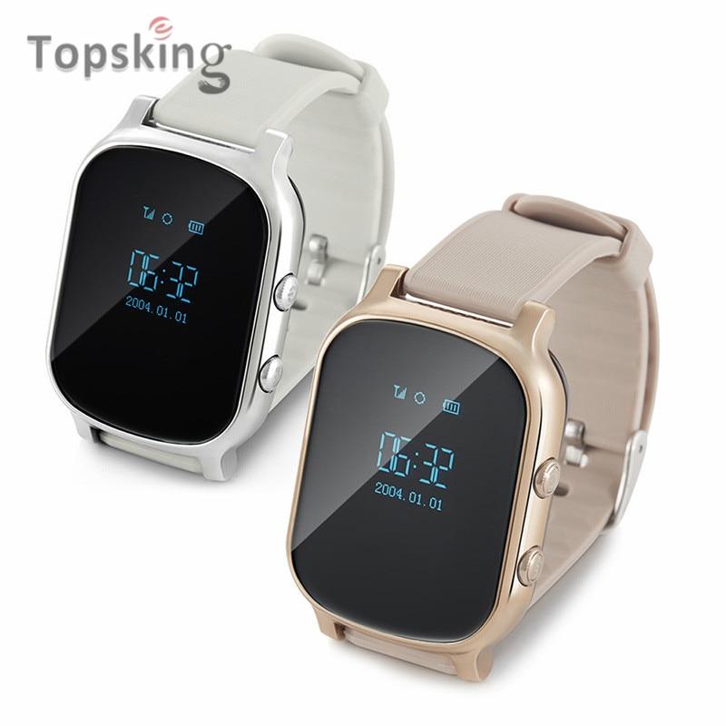 Topsking Original Kids GSM GPS Tracker SIM For Children Kid Smart watch Phone Smart bracelet T58