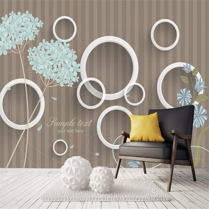 Home Decor Photo Wallpaper 3 d Simple Style Wall Picture Living Room Bedroom Hotel Wall Mural Dandelion Wallpaper for Girls Boys fashion letters and zebra pattern removeable wall stickers for bedroom decor