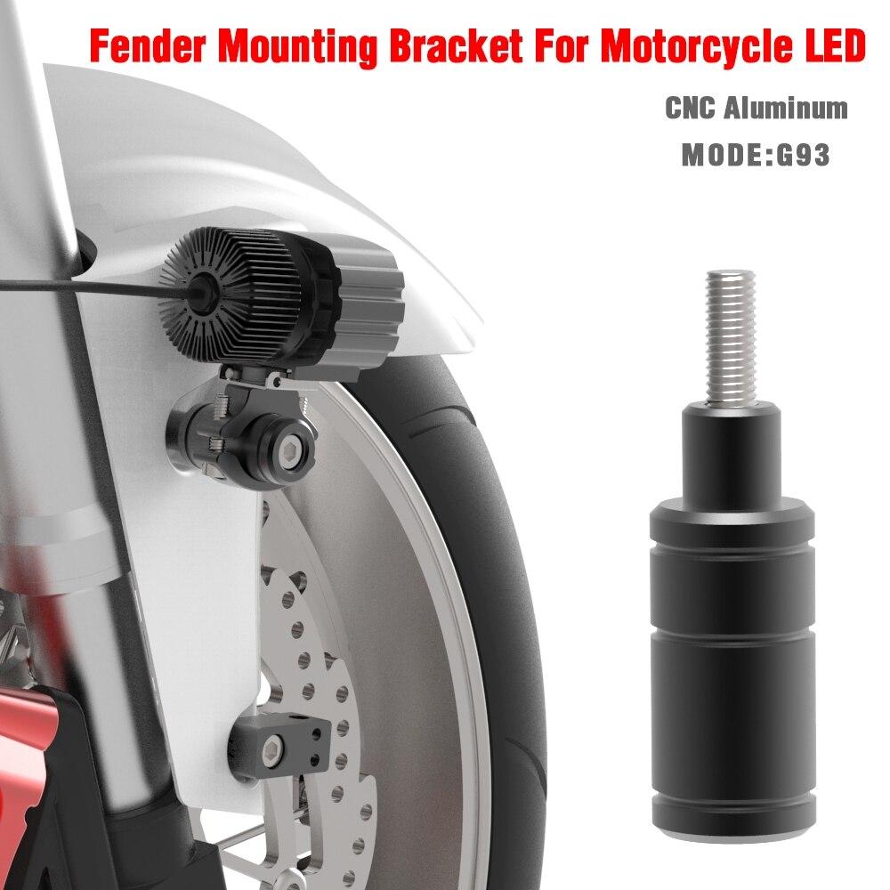 2 Sets BOSMAA Folding Adjustable Motorcycle Headlight Bracket Mount Bike Sport Tail Light Holder Fender Eliminator For Honda Ect