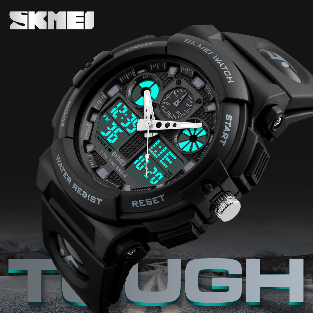 SKMEI Luxury Brand Men Sports Watches Men's Quartz LED Digital Hour Clock Male Military Wrist Watch Waterproof Relogio Masculino top luxury brand men military waterproof rubber led sports watches men s clock male wrist watch relogio masculino 2017