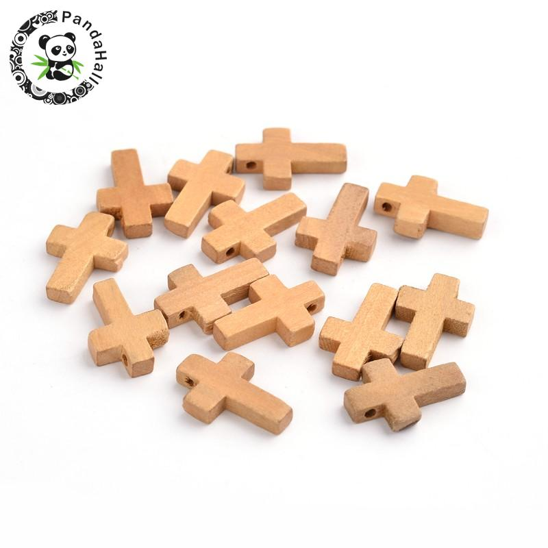 Wood Pendants, Cross Pendants, Lead Free, Camel, 22x14x4mm, Hole: 2mm