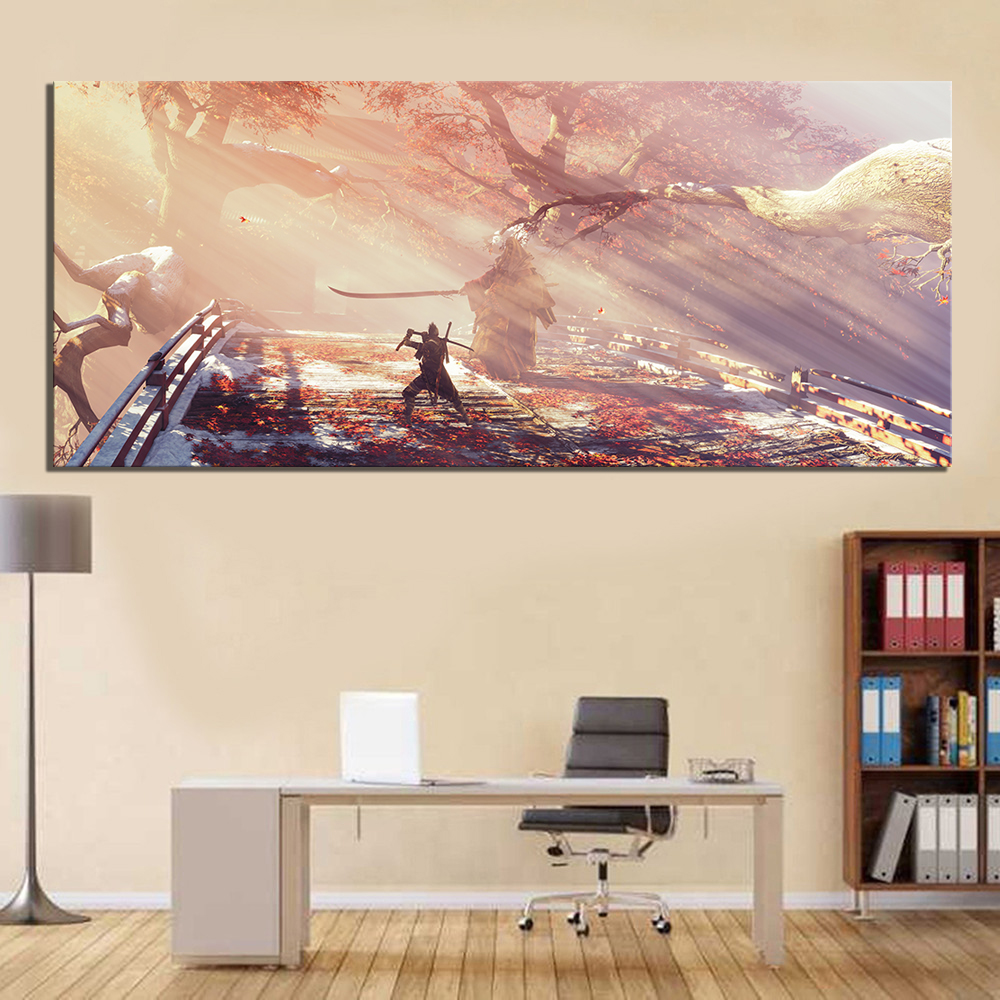 1 Piece HD Picture Print Sekiro Shadows Die Twice Video Game Scene Poster Landscape Wall Art Canvas Paintings for Home Decor 1