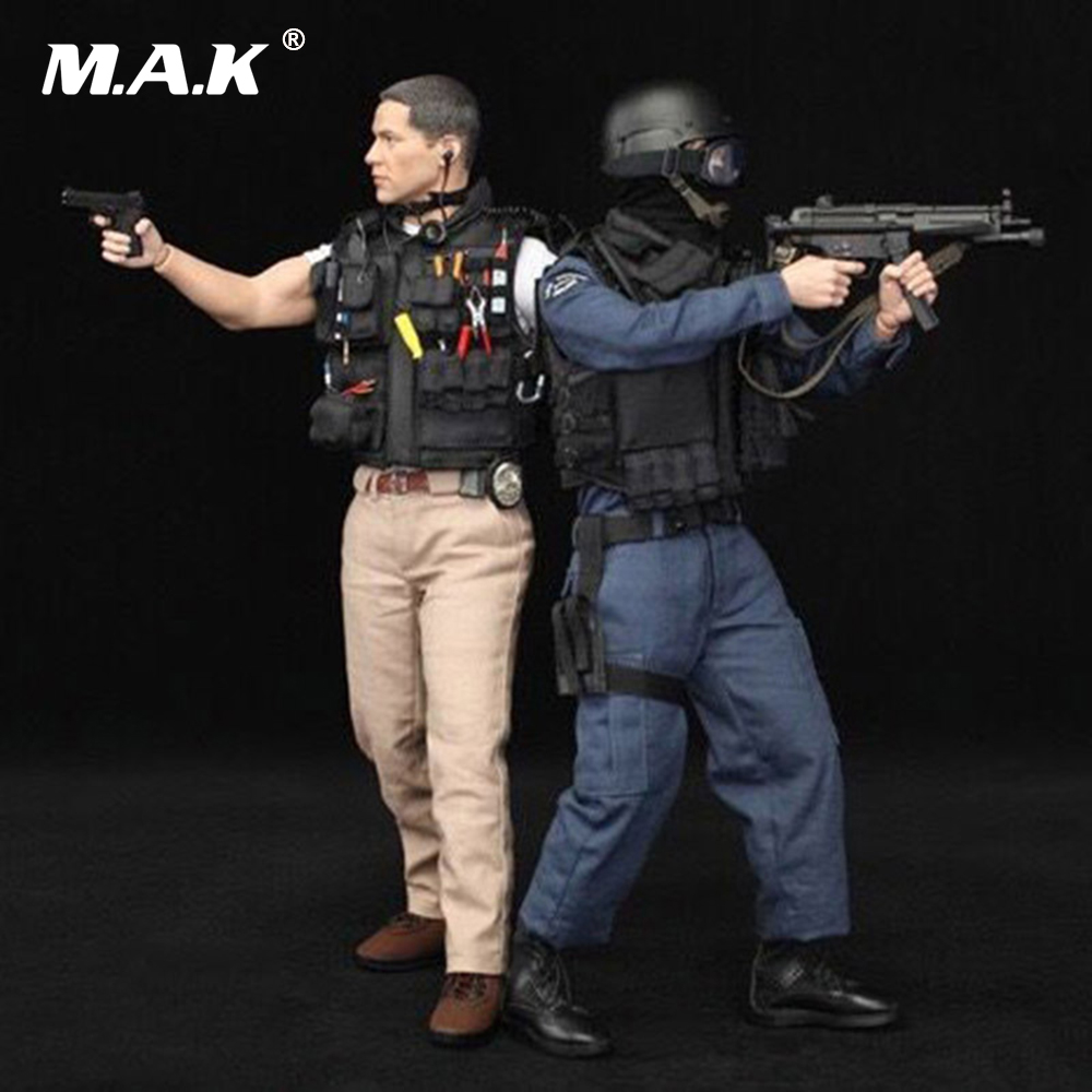1/6 Scale US LAPD SWAT Kenny Action Figure With 2 Sets of Clothes Full Set with Accessories
