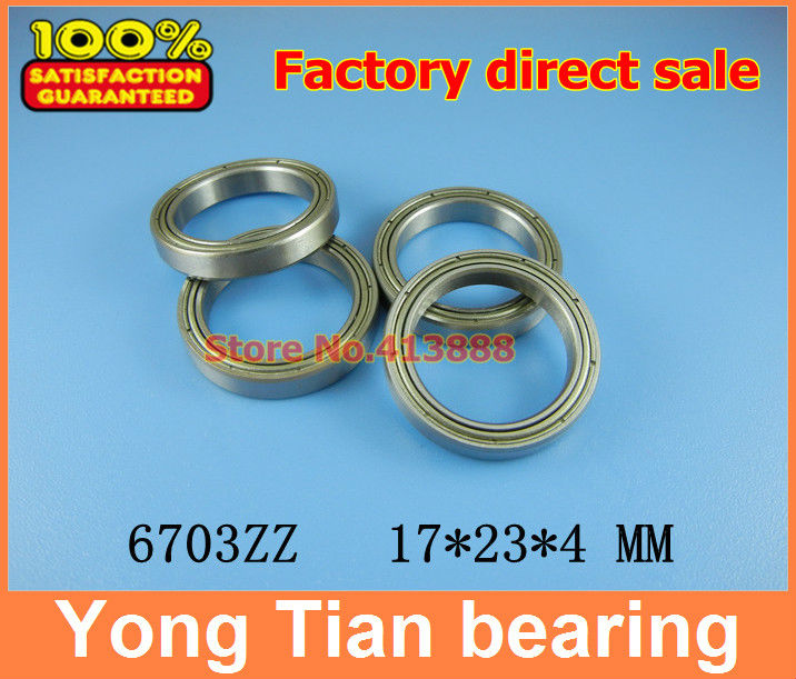 The high quality of ultra-thin stainless steel bearing 6703 S6703ZZ S61703Z SS6703ZZ S6703-2Z 17*23*4 mm 440C material kcchstar the eye of god high quality 316 titanium steel necklaces golden blue
