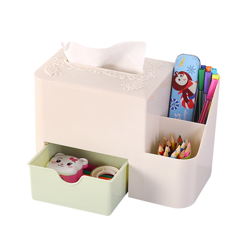 Simple Style Makeup Storage Box Napkin Boxes Plastic Cosmetic Organizer Makeup House Storage Office Table Sundry Storage Drawer makeup organizer box