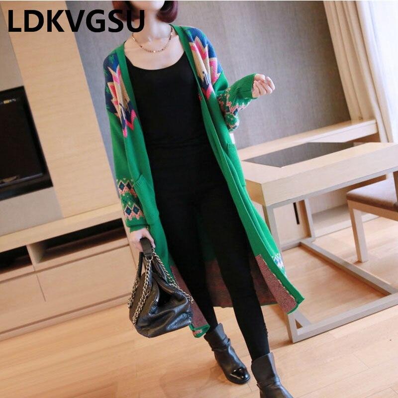 Tops Manches Couture Plus Chandail Is1213 Hiver La xingse Femmes Femelle Poches Tricoté Black Is1213 Veste Taille green Longues Is1213 À 2018 Cardigan Long Automne OYqTPT