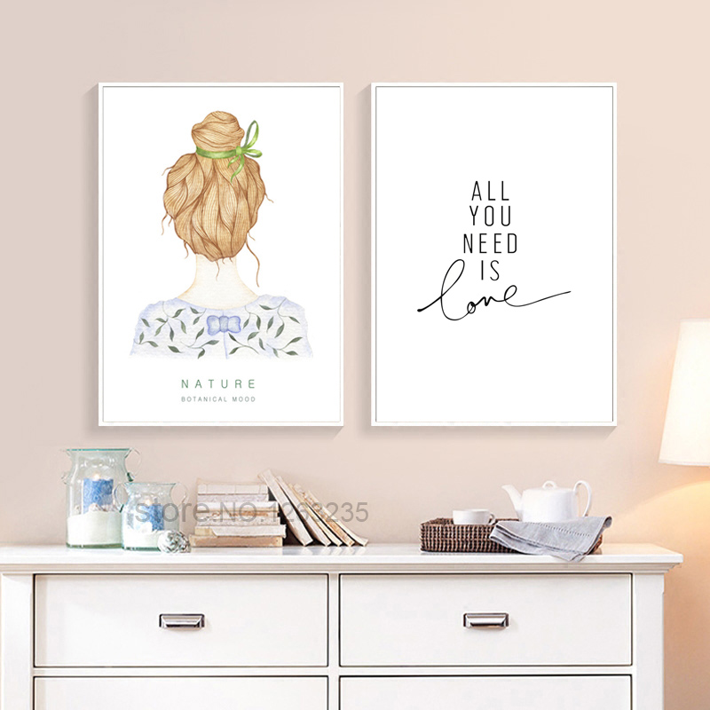 Girl all you need is love picture living room cuadros - What do you need to paint a room ...