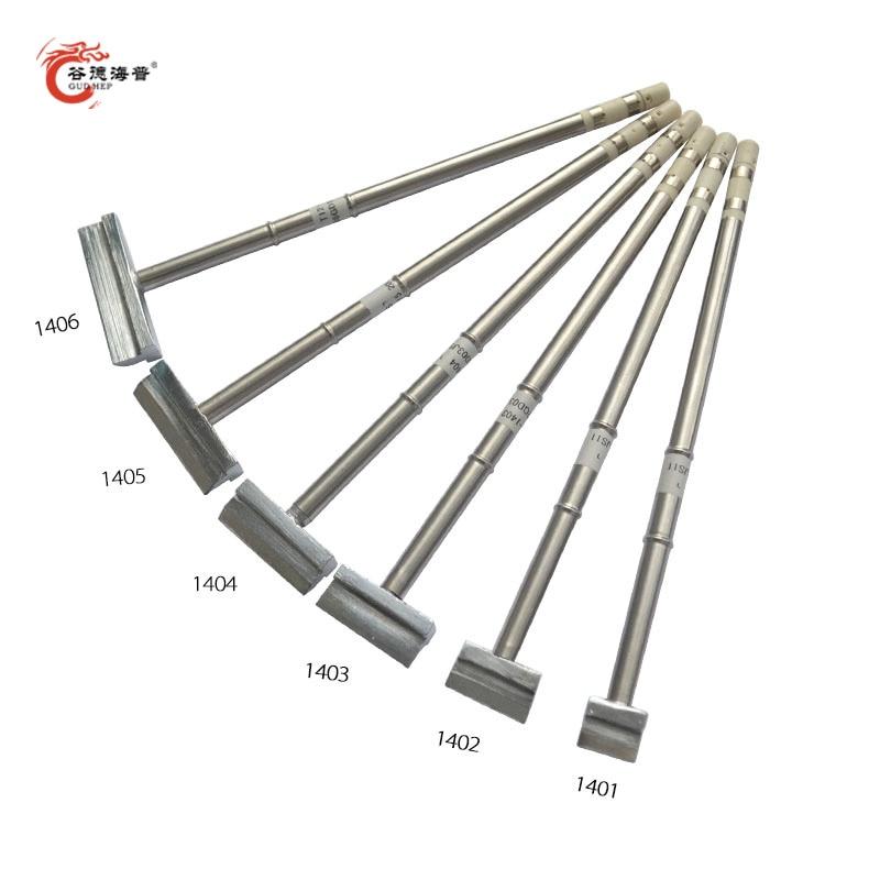 gudhep-t12-soldering-iron-tips-spatula-t12-1401-1402-1403-1404-1405-1406-for-fx951-fx950-soldering-station