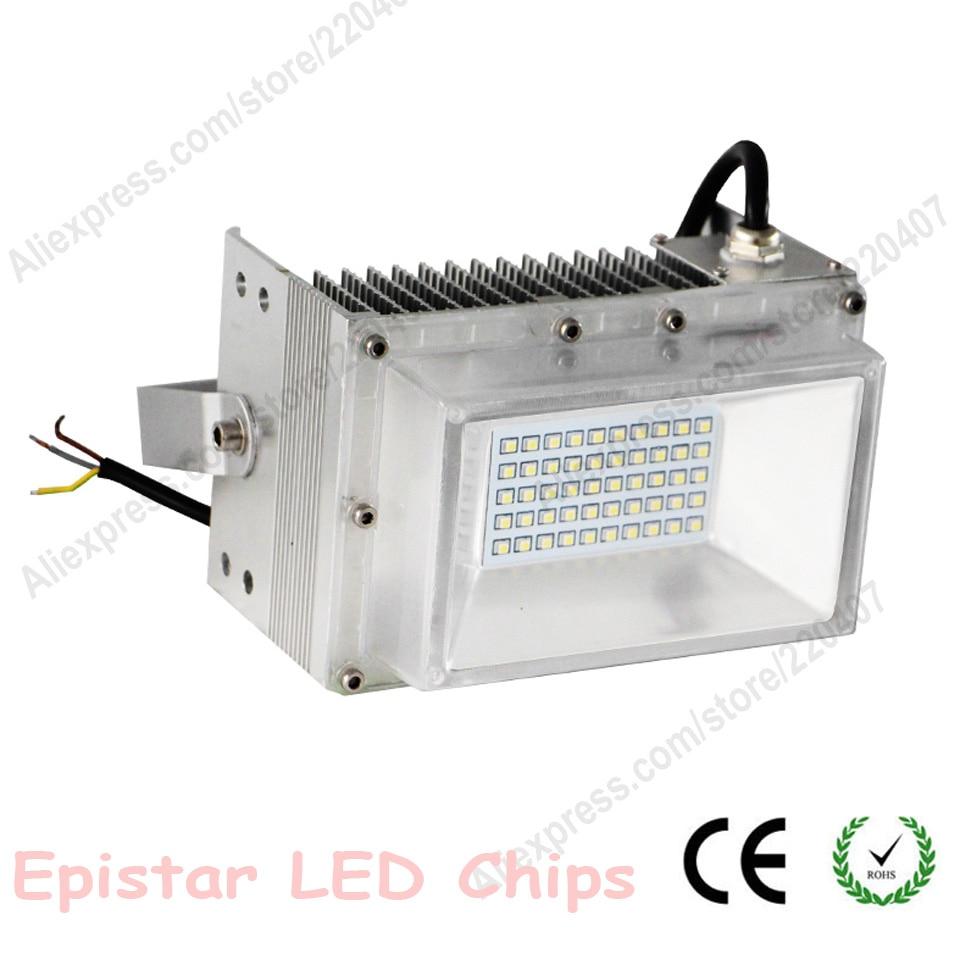 Nouveau LED lumière d'inondation AC85-265V IP67 projecteur étanche 50 W SMD2835 Epistar COB puces LED Sporlight extérieur porte lumières