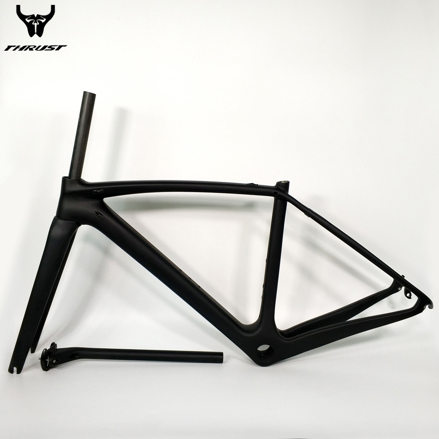 THRUST Road Bicycle Bike Carbon Frame XXS XS S M L Carbon Road Frame China BSA BB30 PF30 T1000 Carbon Bike Frame 2 year Warranty wholesale 2017 newest thrust carbon road frame carbon road bike frame