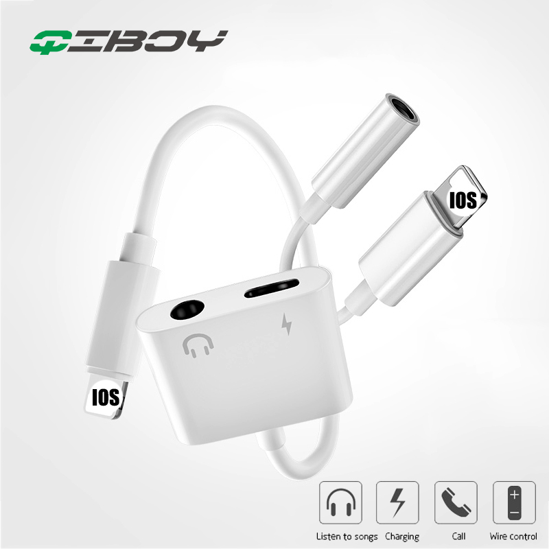 3.5MM Headphone Jack Adapter Aux Lighting Plug Audio Music Play For IPhone X 7 8 Plus XR XS Max Charger Cable Earphone Converter