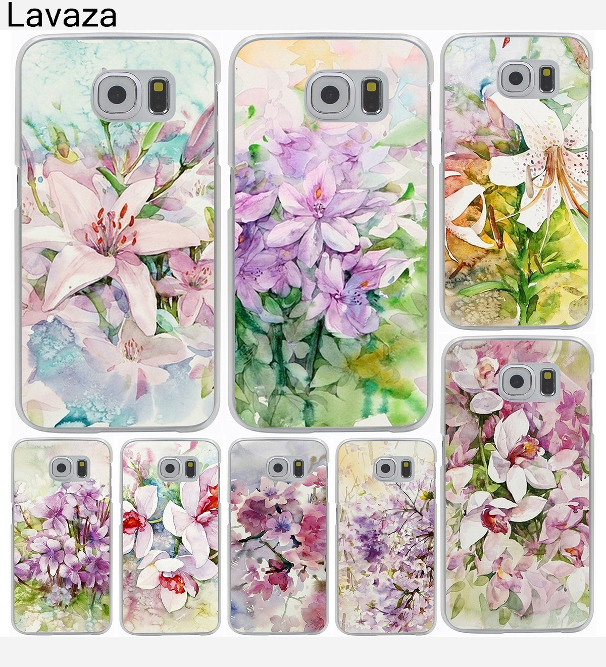 Flowers Daisy Plants Hard Cover Case for Galaxy S3 S4 S5 & Mini S6 S7 S8 Edge Plus