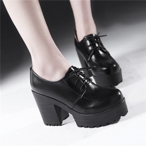 Online Buy Wholesale chunky oxford heels women from China chunky ...