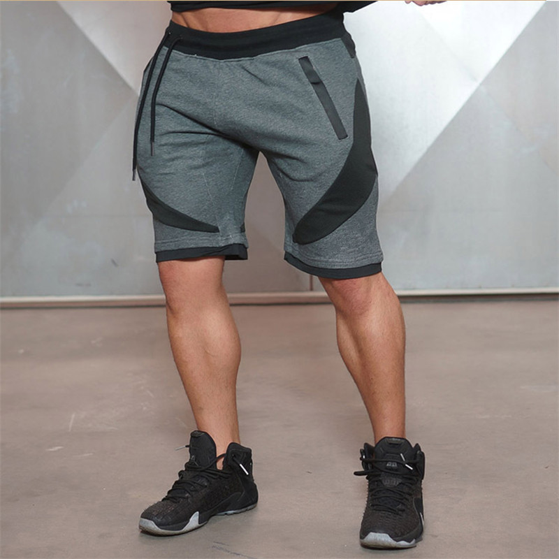 2018 New Summer Brand High Quality Cotton Men shorts Bodybuilding Fitness Gasp short masculino workout jogger shorts golds