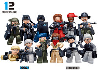 Sluban City Police Riot SWAT The Wraith Assault Ghost Military Weapons Figures Building Block Sets Compatible