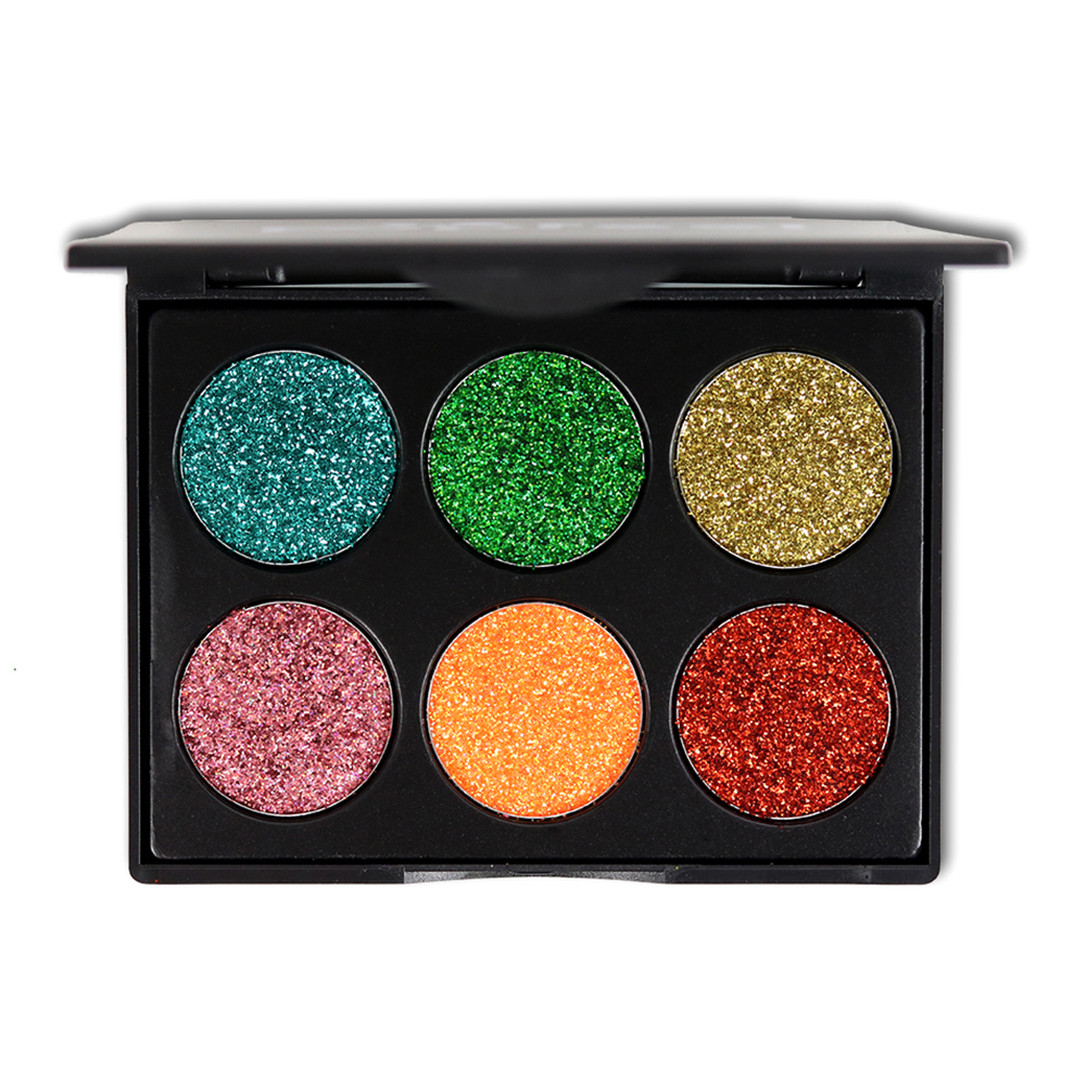6 Colors Professional Salon Women Makeup Glitter Eyeshadow Palette Eye Glitter Make Up Cosmetic Eye Shadow Beauty Tool