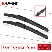 KAWOO для Toyota Prius XW10/XW20/XW30 автомобильный мягкий натуральный резиновый Windcreen дворники BladesModel год от 1998 до подходит U Крюк рычаг