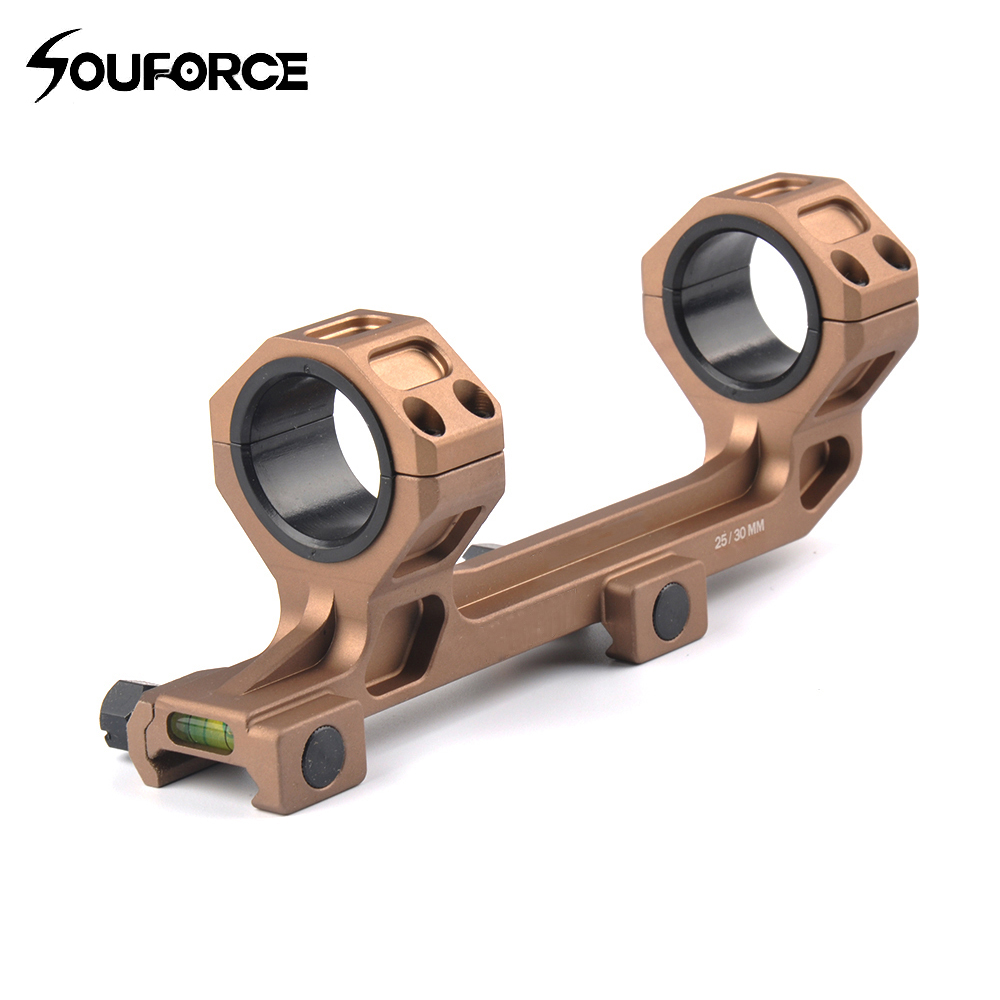 25.4mm/30mm QD Rings Mount with Bubble Level fit 20mm Picatinny Rail for Tactical Gun AR15 Hunting Rifle Optic Scope Mount image