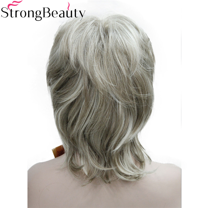 Strong Beauty Synthetic Wigs Medium Length Wavy Hair Women Capless Wig 15 Colors in Synthetic None Lace Wigs from Hair Extensions Wigs