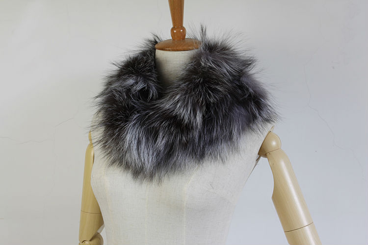7670397840d Winter Fashion Women Real Natural Silver Fox Fur  Real Crystal Fox Fur Scarf  Wraps Stole Shawls Gifts FFS004-in Women s Scarves from Apparel Accessories  on ...