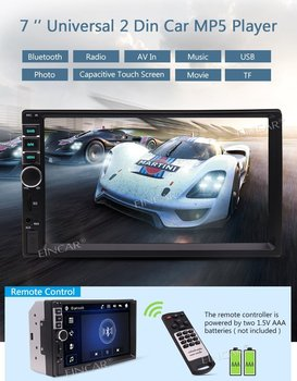 2 Din 7 Inch Capacitive Touch Screen Car headunit Stereo MP5 Player