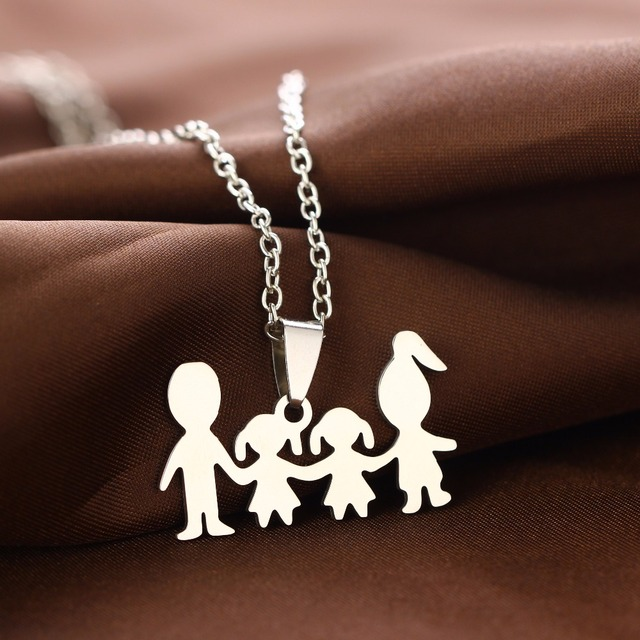 Family Necklace for Mom and Dad
