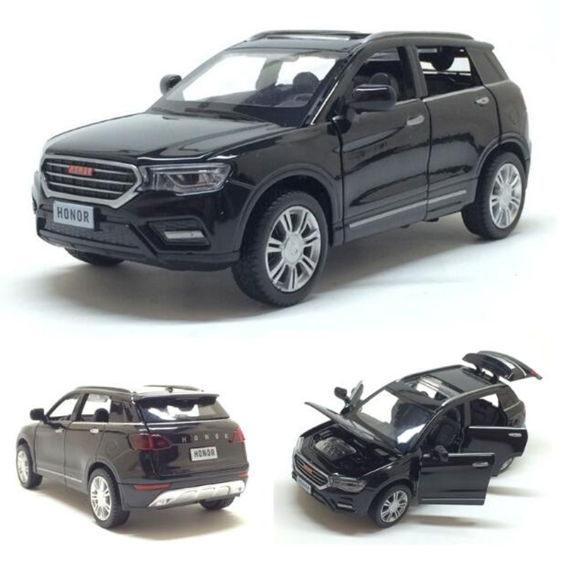 1:32 Toy Car HAVAL H6 Metal Alloy Diecast Car Model Miniature Scale Model Sound And Light Model Car Toys For Children