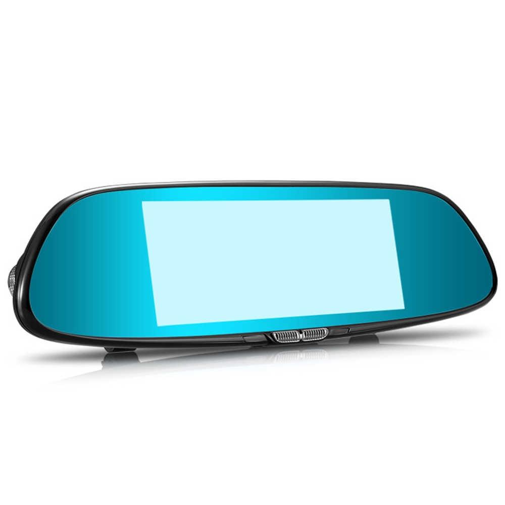 7,0 дюймовый сенсорный экран Автомобильное Зеркало для видео камера заднего вида Автомобильная Dvr камера двойной объектив рекордер g-сенсор видеорегистратор FHD 1080 P Регистратор