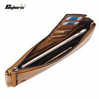 CYBORIS Handmade Wallet Genuine Leather Case For Samsung GalaxyS6 S7 Edge C7 C5 A5 A7 Zipper Purse Pouch Phone Cases Handbag
