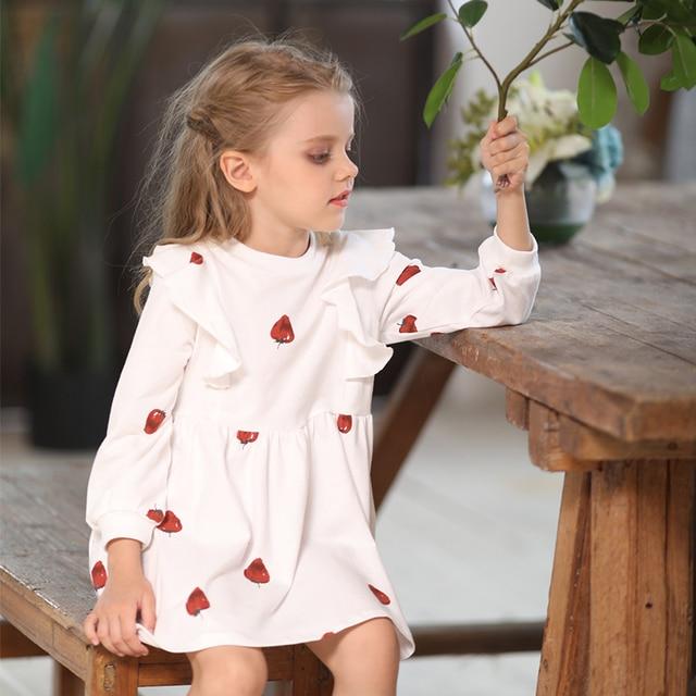 31a68ef4c MQ vestido familia juego trajes ropa otoño ropa de los niños de patrón de  fresa de