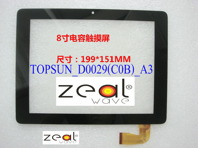ФОТО TOPSUN_D0029(C0B)_A3  8 Inch Capacitive Touch Screen Digitizer Glass Replacement for T TOUCH SCREEN  NO:TOPSUN_D0029(C0B)_A3