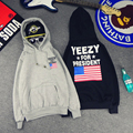 YEEZY Flag Hoodies Men Women Kanye West For President Black Man Sweatshirts Fleece Warm Homme Tracksuit S-XXL Fashion Hoody