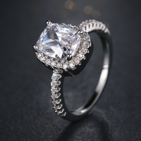 ZN Fashion Rings Show Elegant Temperament Jewelry Womens Girls White Silver Filled Wedding Ring 5
