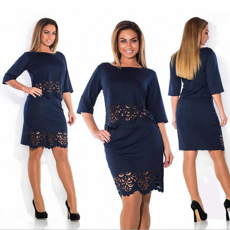 6d5ef801484 Fashion 2 piece set autumn women dresses big size NEW 2019 plus size women  clothing L