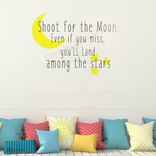 JOYRESIDE Art Wall Decel Shoot For The Moon Even If You Miss Will Land Among Stars Poster Removeable Mural LY11