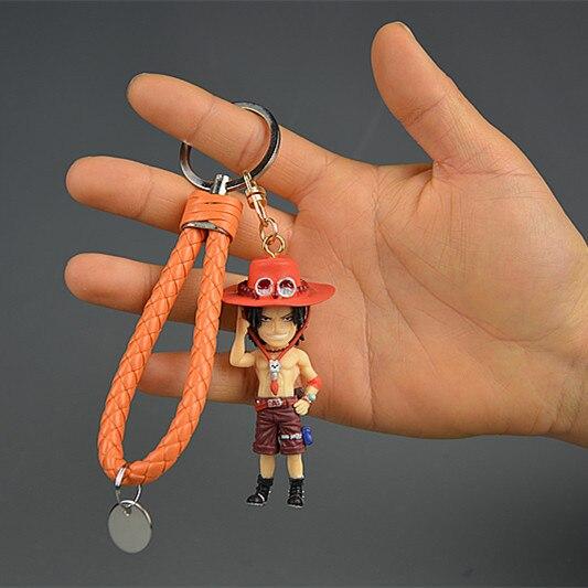 IVYYE 1PCS One Piece Fire Anime Action Figure Key Chain PVC Figures Keyring Toys Keychain Keyholder Unisex Birthday Gifts NEW