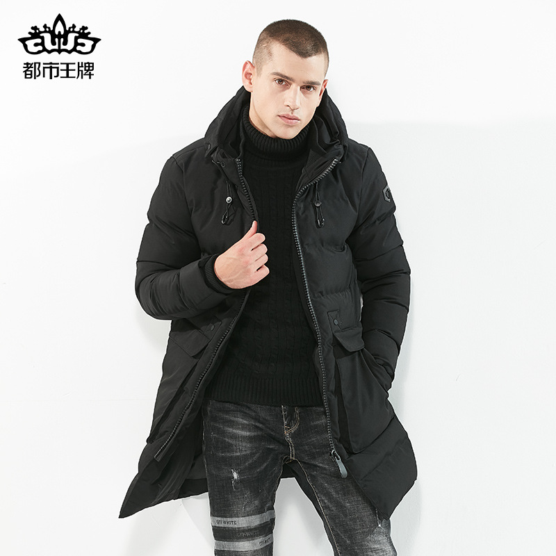цена на 2017 Free Shipping Male Cotton Padded Jacket Quality Mens Winter Down Jacket Wholesale Thickened Outwear Coats