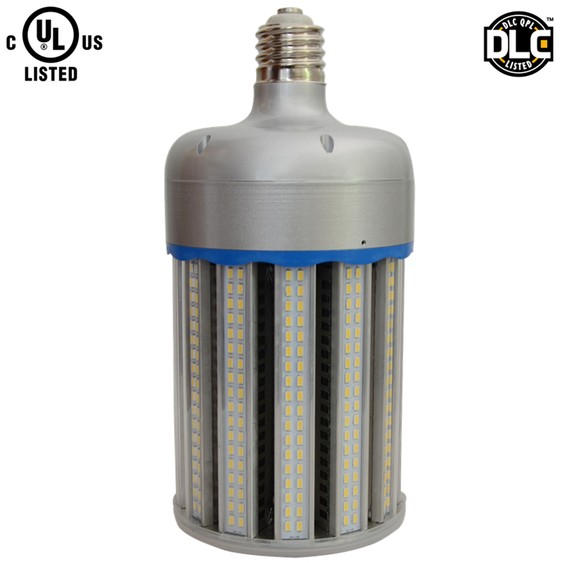 No fan aluminum alloy 130lm/w E40 E39 DLC UL 120w led corn light bulb replace 500w metal halide lamp
