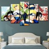 Tableau Naruto shippuden 7 Cadre photo modulaire 5 panneaux D cor artistique mural affiche de personnages Anime Naruto toile