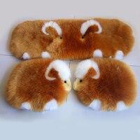 Cute Cartoon Lambs Australian Wool Car Seat Cover Universal Sheepskin Fur Seat Cushion Pure Wool Seat Pads for Home Chair Mats